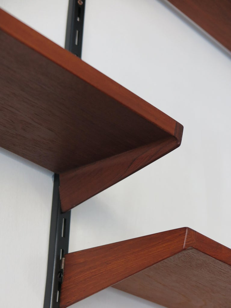 Kai Kristiansen Teak Scandinavian Shelves System for FM Møbler, 1960s For Sale 1