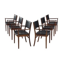 Kai Lynfeldt-Larsen Set of Six Rosewood Dining Chairs