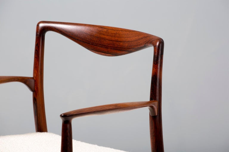 Kai Lyngeldt Larsen Pair of Rosewood and Boucle Armchairs, 1959 For Sale 3