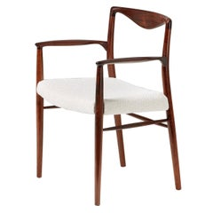Kai Lyngeldt-Larsen Rosewood and Boucle Armchair, 1959