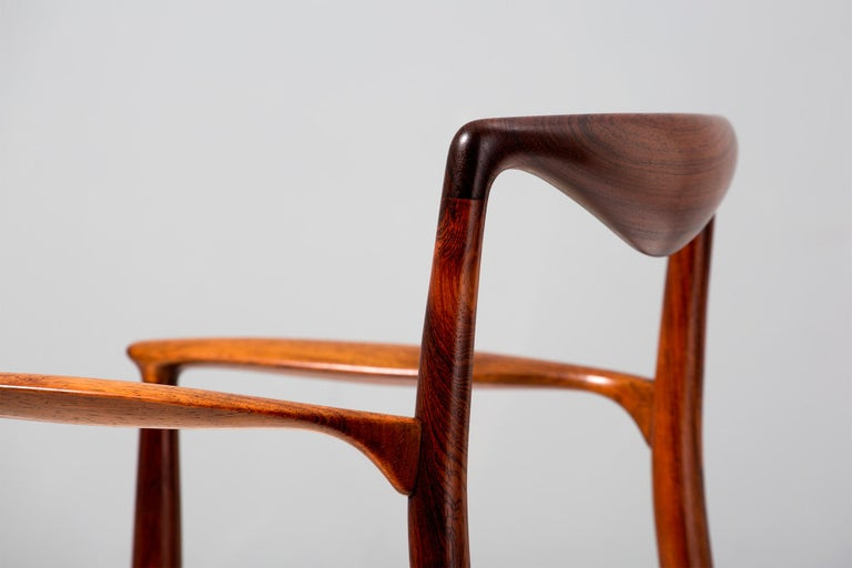 Mid-20th Century Kai Lyngeldt-Larsen Rosewood and Boucle Armchair, 1959 For Sale