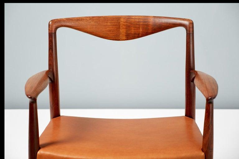 Leather Kai Lyngfeldt-Larsen 1960s Rosewood Armchair For Sale
