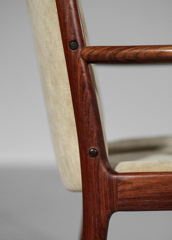 Kai Lyngfeldt Larsen Armchair Scandinavian Velvet Fabric Soren Willadsen Mobelfa For Sale 4