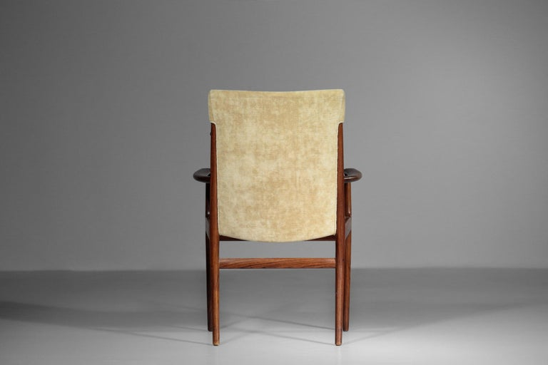 Kai Lyngfeldt Larsen Armchair Scandinavian Velvet Fabric Soren Willadsen Mobelfa For Sale 5