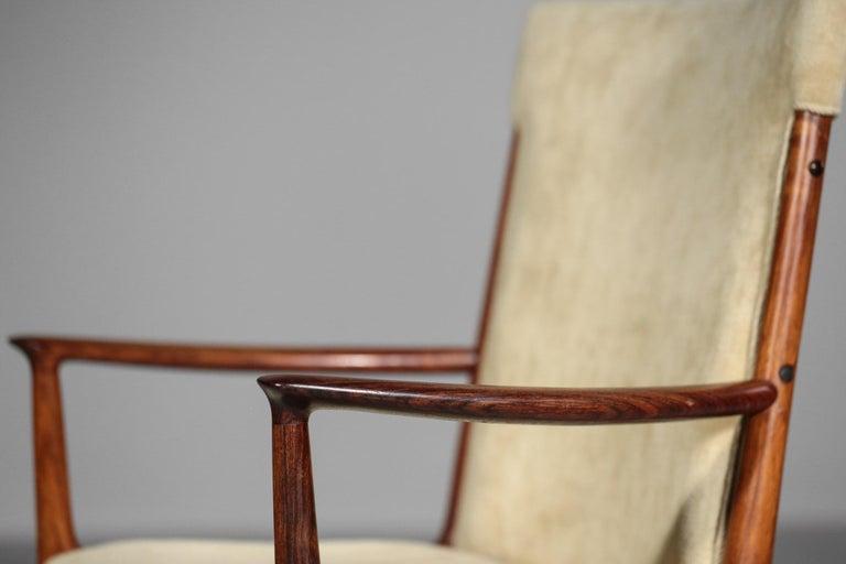 Kai Lyngfeldt Larsen Armchair Scandinavian Velvet Fabric Soren Willadsen Mobelfa For Sale 1