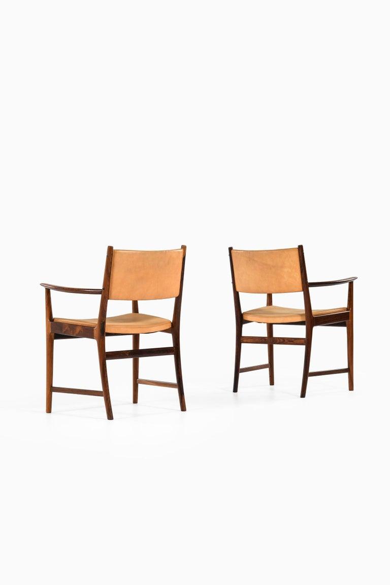 Mid-20th Century Kai Lyngfeldt Larsen Armchairs by Søren Willadsen Møbelfabrik in Denmark For Sale
