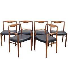 Kai Lyngfeldt Larsen for Soren Willadsen Dining Chairs Armchairs Danish 1960s