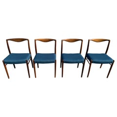 Kai Lyngfeldt Larsen Set of Four Dining Chairs in Rosewood, Denmark, 1960s