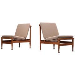 Kai Lyngfeldt-Larsen Set of Lounge Chairs '501' in Teak
