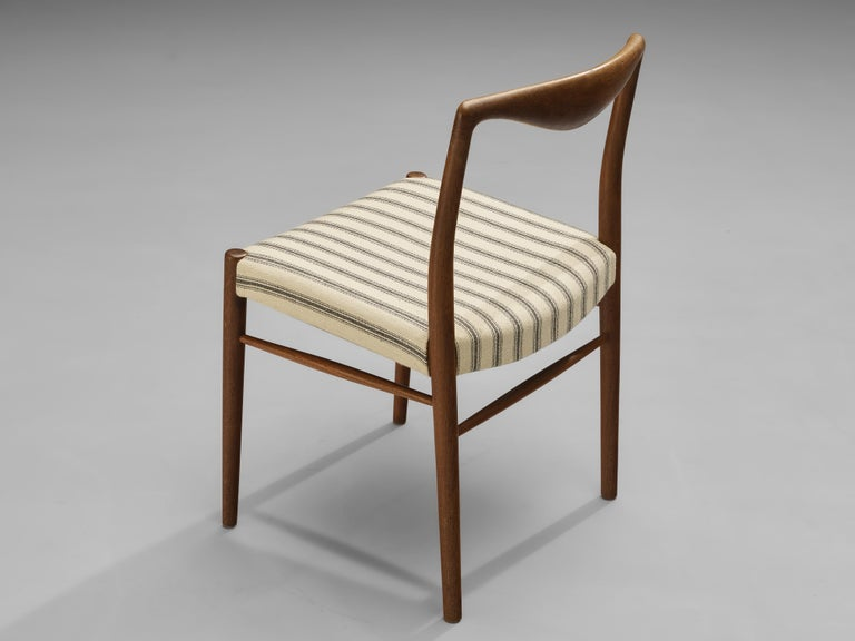 Scandinavian Modern Kai Lyngfeldt Larsen Set of Six Dining Chairs in Teak For Sale