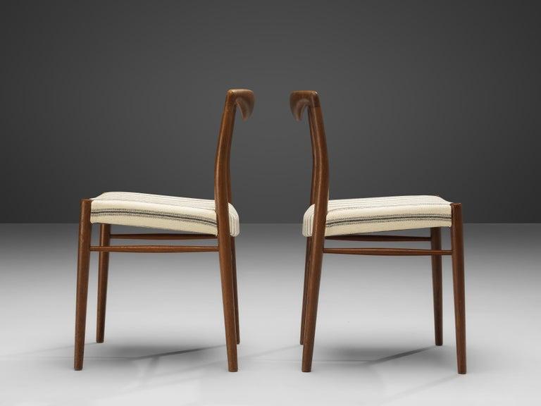 Kai Lyngfeldt Larsen Set of Six Dining Chairs in Teak In Good Condition For Sale In Waalwijk, NL