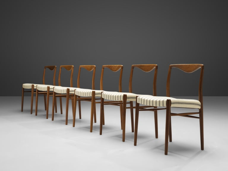 Mid-20th Century Kai Lyngfeldt Larsen Set of Six Dining Chairs in Teak For Sale