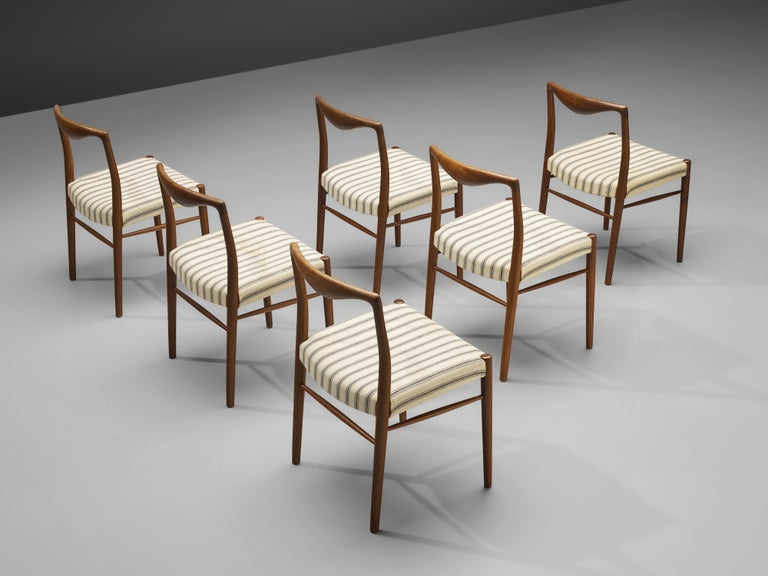 Kai Lyngfeldt Larsen Set of Six Dining Chairs in Teak For Sale 1