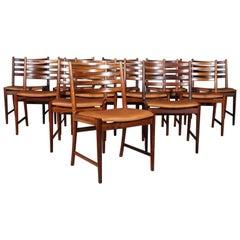 Kai Lyngfeldt Larsen twelve Dining Chairs