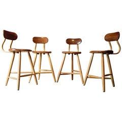 Kai Pedersen Studio Craft Counter Stools, Set of 4