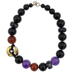 Kai-Yin Lo, KYLO Onyx, Carnelian , Amethyst, Agate & Vermeil Necklace