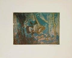 Exotic Fishes - Original Etching by Kaiko Moti - 1960