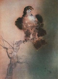 Falcon, Original Lithograph, Kaiko Moti