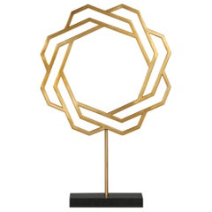 Kaiser Decorative Sculpture in Gold Stainless Steel by CuratedKravet