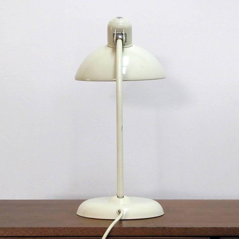 Enameled Kaiser Desk Lamps by Christian Dell For Sale