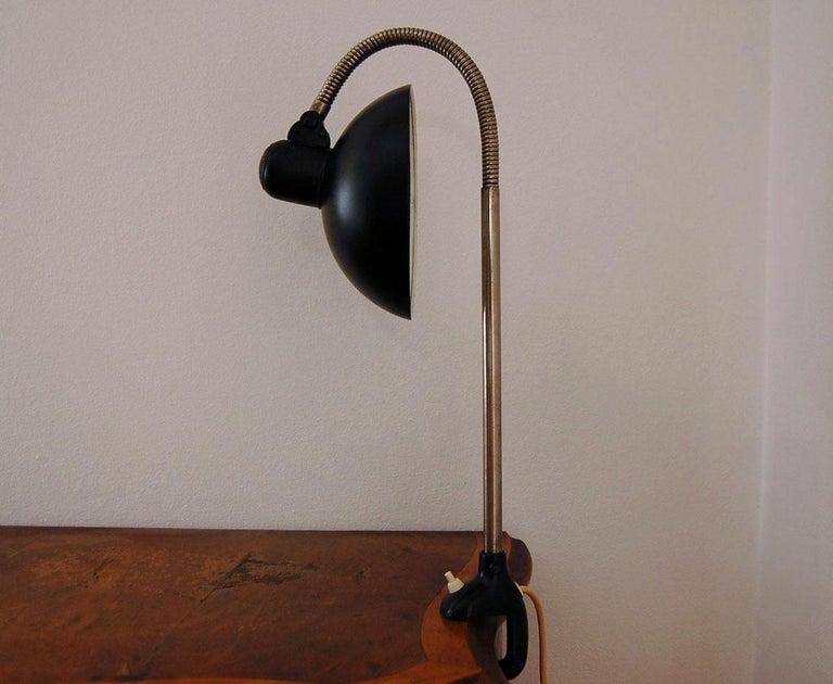 Bauhaus Kaiser iDell Model 6740 Table Lamp by Christian Dell For Sale
