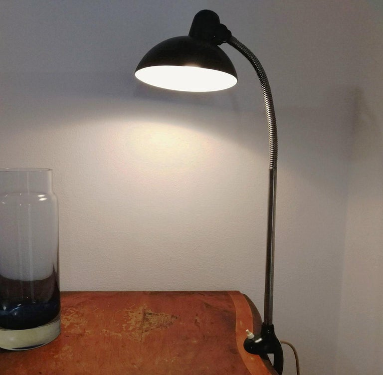 Mid-20th Century Kaiser iDell Model 6740 Table Lamp by Christian Dell For Sale