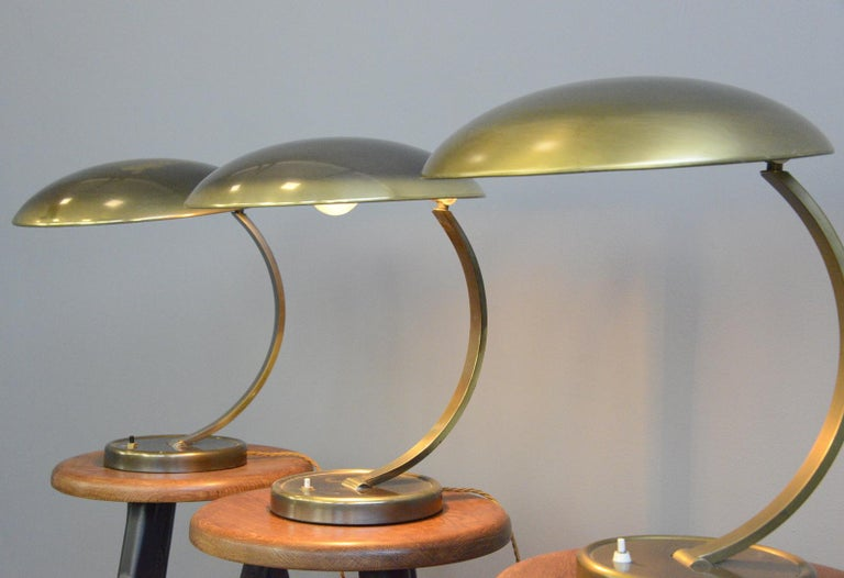 Mid-20th Century Kaiser Idell Model 6751 Table Lamps, circa 1950s For Sale