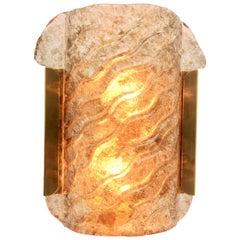 Kaiser Leuchten Art Glass Leaf Sconce 'Wall-Light', circa 1970s