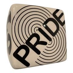 Pride Ceramic Cube Wall Sculpture