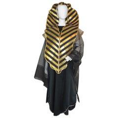 "Kaisik Wong ""Cobra"" Art to Wear Ensemble with Black Dress and Apron, Obiko"