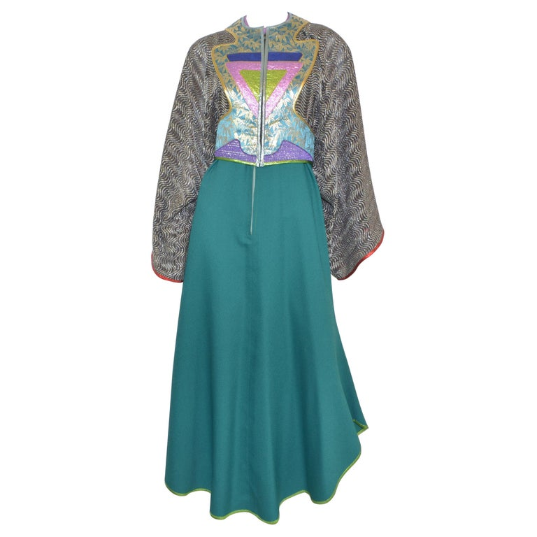 Kaisik Wong, Obiko Art to Wear Ensemble with Jacket & Dress For Sale