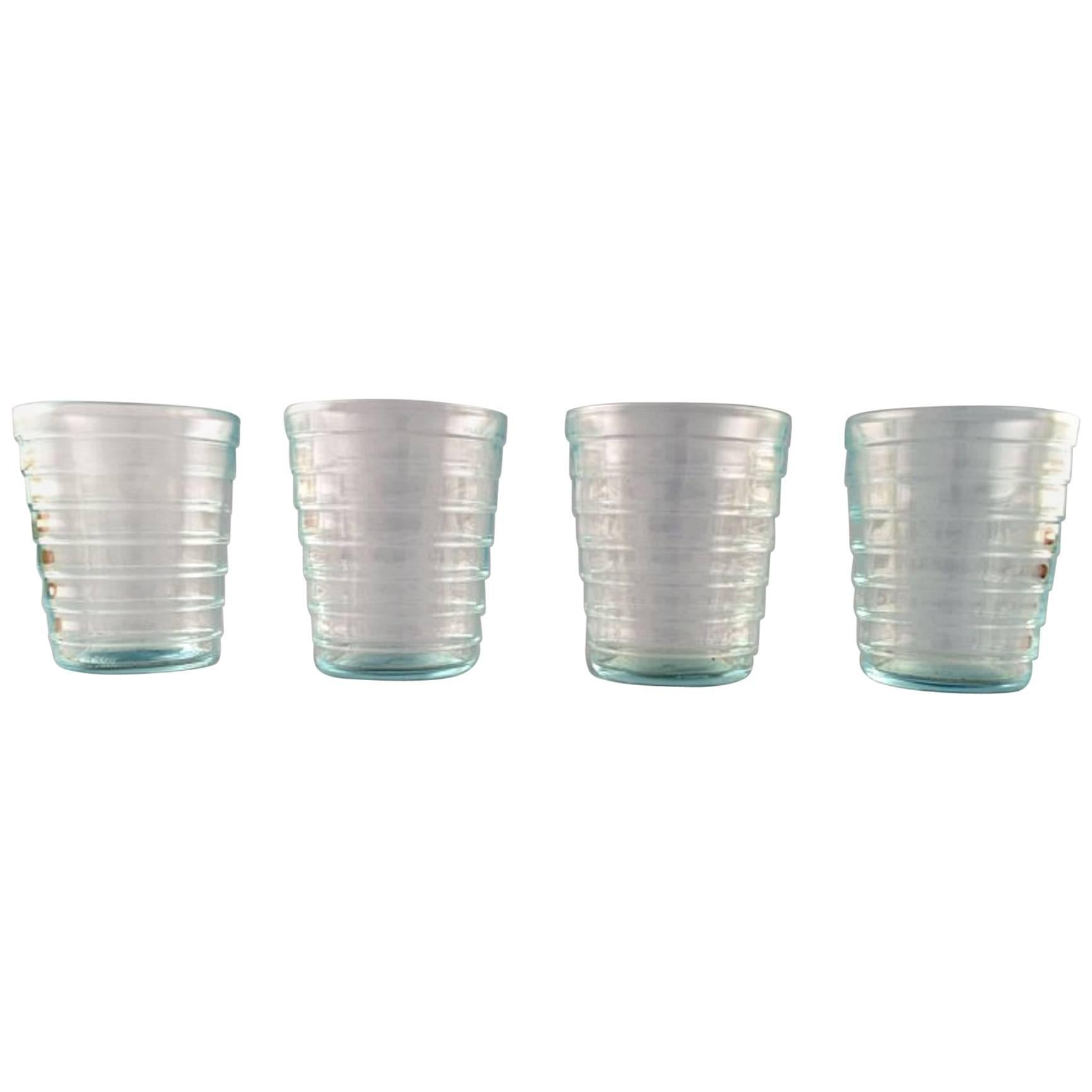 Kaj Franck 'Finnish, 1911-1989' Nuutajärvi Glass Works, Four Drinking Glasses