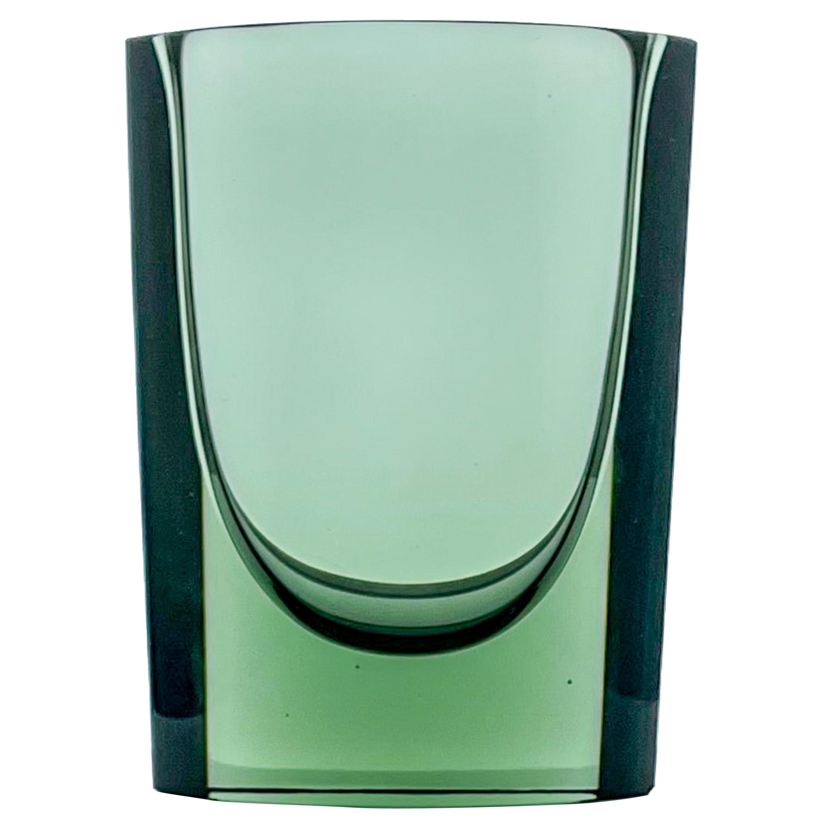Kaj Franck, Green Glass Art-Object, Model N 407, Nuutajärvi-Notsjö, Finland 1967
