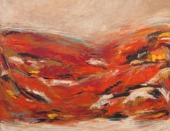 Somewhere... Feeling Warm, Abstract Oil Painting