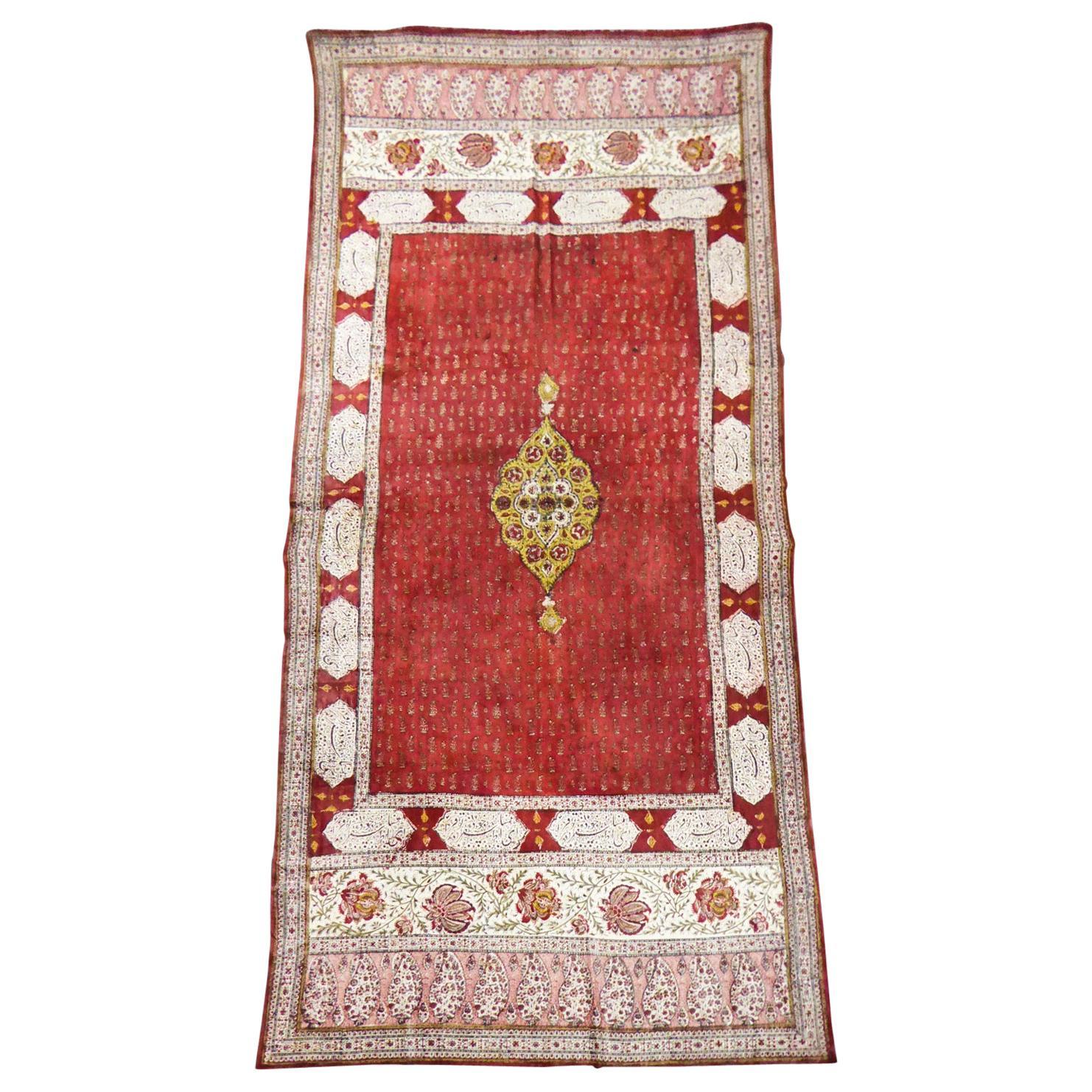 Kalamkari in glazed painted cotton - India for the Persian market - 19th century