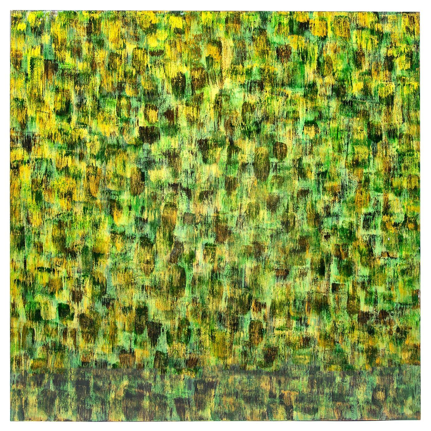 Kaleido Green Wall Panel by Giannella Ventura