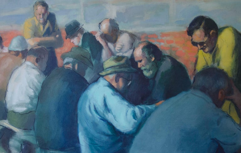 The Chess Players - Painting by Kalman Aron