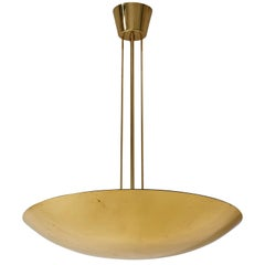 Kalmar Brass Uplight Bowl Chandelier, 1970, One of Three