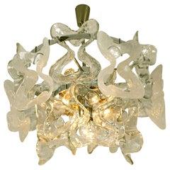 Kalmar Catena Murano Glass Chrome Chandelier, 1970s