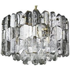 Kalmar Chandelier Gold-Plated with Crystals, 1970, Austria
