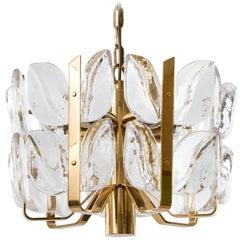 Kalmar Chandelier, Glass Brass, 1970