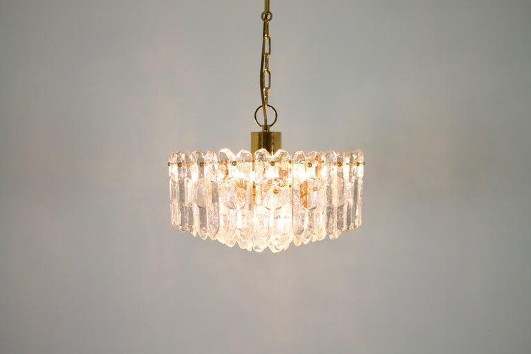 Kalmar Chandelier Palazzo Gilt Brass and Glass Austria, 1970s For Sale 6