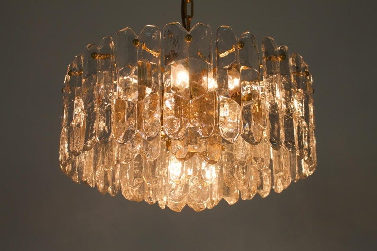 Kalmar Chandelier Palazzo Gilt Brass and Glass Austria, 1970s For Sale 7