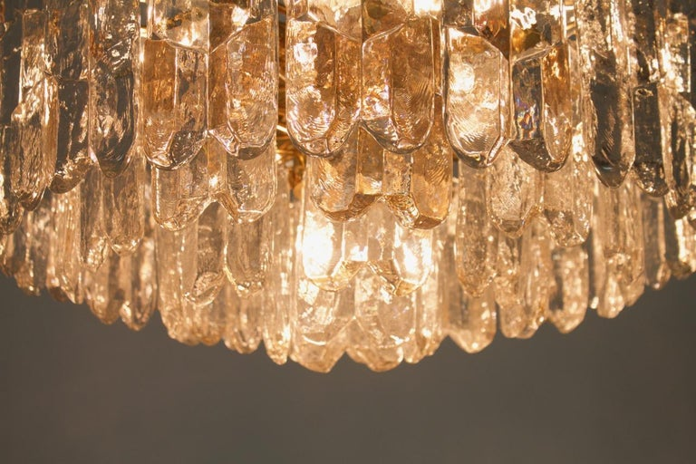 Kalmar Chandelier Palazzo Gilt Brass and Glass Austria, 1970s For Sale 8