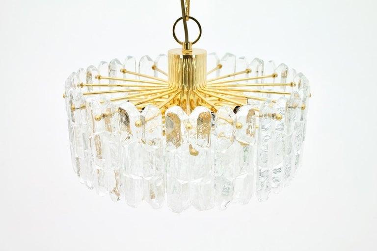 Kalmar Chandelier Palazzo Gilt Brass and Glass Austria, 1970s 3