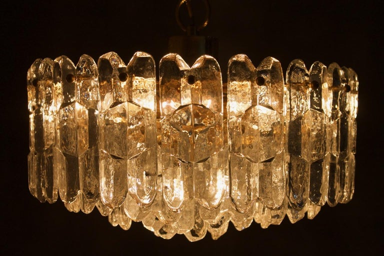 Kalmar Chandelier Palazzo Gilt Brass and Glass Austria, 1970s For Sale 2