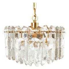 Kalmar Chandelier Pendant Light 'Palazzo', Gilt Brass Glass, 1970, 1 of 2