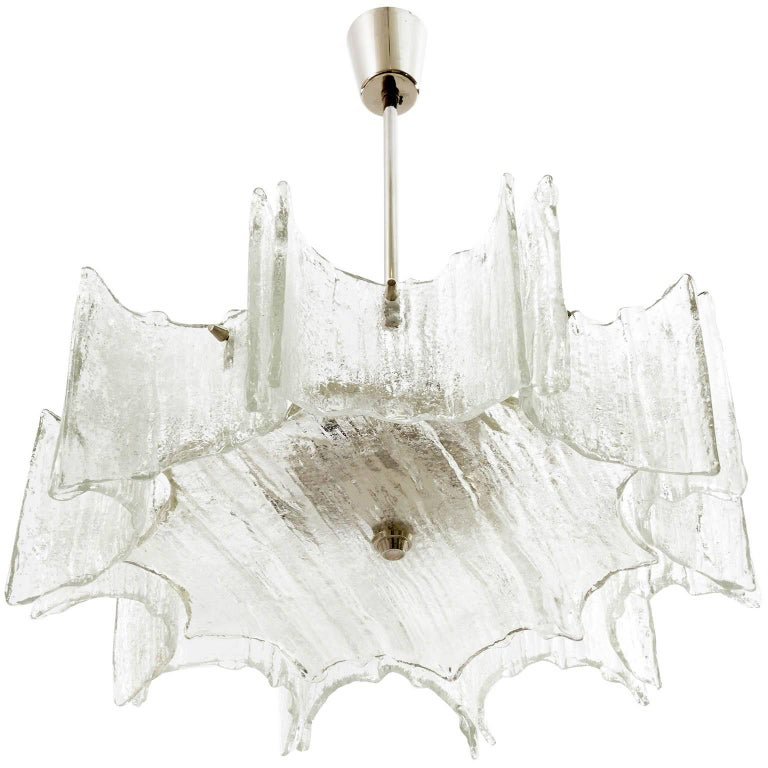 Kalmar Chandelier, Glass Nickel, 1970