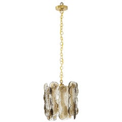 Kalmar Clear and Amber Glass Chandelier