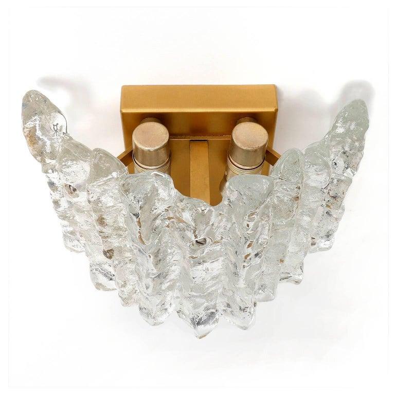 Austrian Kalmar Glass Sconces, 1970s For Sale